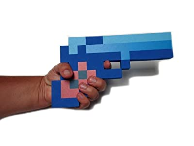 8 Bit Pixelated Blue Diamond Foam Gun Toy 10 by 8BIT TOYS