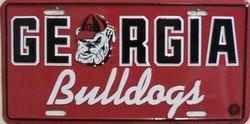 University of Georgia Bulldogs Collegiate Embossed Aluminum Automotive Novelty License Plate Tag Sign (Bulldog Tag compare prices)