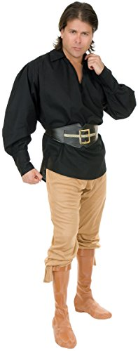 Unisex Pirate Shirt Adult Costume Accessory Black