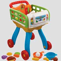 This playset comes with 20 individual play pieces, including a variety of foods and utensils as well as a pot and a pan.