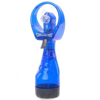 kilofly Portable Battery-Operated Water-Misting SPRAY Fan - Blue