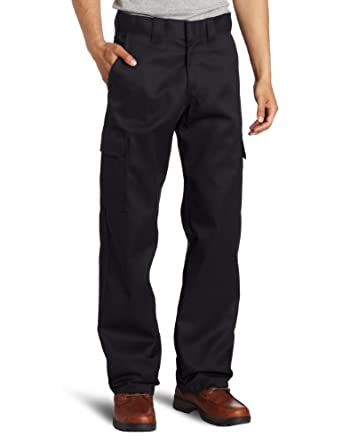 WP592 Dickies Relaxed Straight Fit Cargo Work Pant-BLACK-30x30