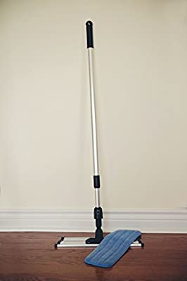 Commercial Grade Microfiber Floor / Dust Mop with a Washable Pad. Works Well on All Surfaces. Telescoping Handle Adjusts to Your Height.