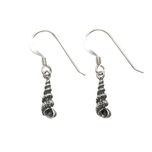 Small Sterling Silver Turritella Sea Shell Earrings