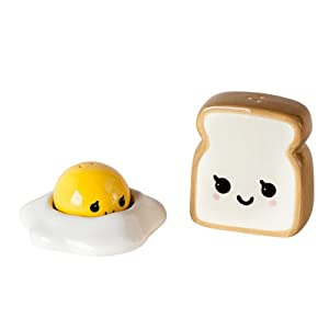 Ceramic Egg and Toast Salt and Pepper Shakers in Gift Box by 180 Degrees
