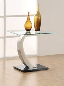 Cheap Glass Top End Table by Coaster (B007JMG1LO)