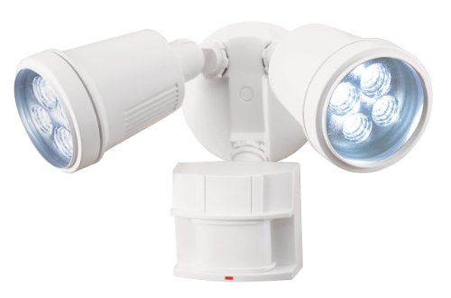 Heath/Zenith SL-5910-WH Motion-Sensing LED Security Light, White