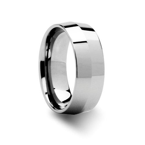 SHOGUN Knife Edge Tungsten Wedding Band - 8mm - FREE Engraving, FREE Expedited Shipping & FREE