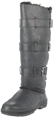 (保暖)BEARPAW Women's Bison Boot 熊掌女士皮质高筒靴71.85刀 三色