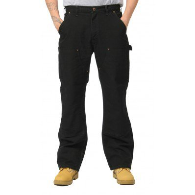 Carhartt Washed Duck Double Front Work Trousers Black 31R,32R,33R,34R,36R,38R Mens