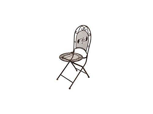Gartenmöbel Stuhl Gartenstuhl Schmiedeisen Bistrostuhl Garten Antik Stil H 97 cm günstig online kaufen
