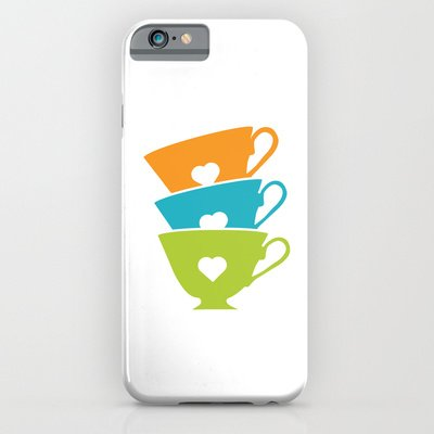 Society6 - Teacups - Tea Time Iphone 6 Case By Aledan