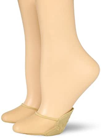 Hue Women's 2 Pair Pack Sheet Toe Cover Sock, Cream, One Size