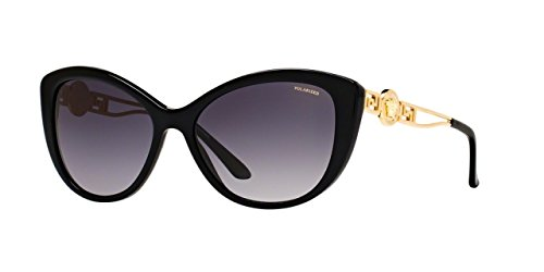 Image of Versace Womens Sunglasses (VE4295) Black/Grey Acetate - Polarized - 57mm