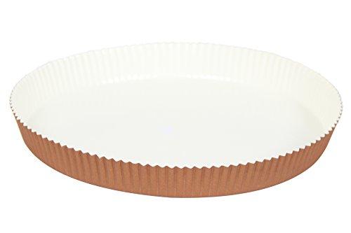 Menastyl Cuisson 8011387 Pâtisser Lot de 2 Moules à Tarte Jetable Carton Chocolat 24 x 3 cm