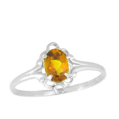Teens Jewelry - Sterling Silver November Birthstone Ring (size 4)