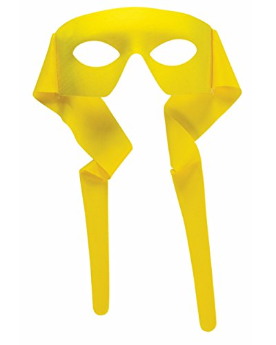 Mens Yellow Masked Man With Ties Venetian Mardi Gras Mask Costume Accessory