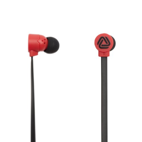 The Pop Blocks Black/Red Earphones With Microphone And Remote