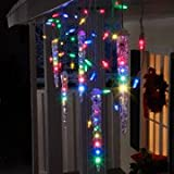 Lightshow 83 Count - LED Shooting Star Icicle Holiday Lights - Mulit Color