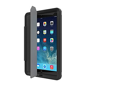 Portfolio Cover + Stand for LifeProof FRE SERIES iPad Air (ONLY) Cases - Retail Packaging - BLACK (LifeProof FRE SERIES Waterproof Case NOT included)