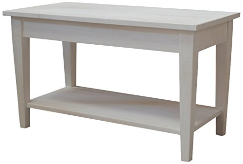 Pieffe Mobili Shabby Tavolino, Legno, Naturale Sbiancato