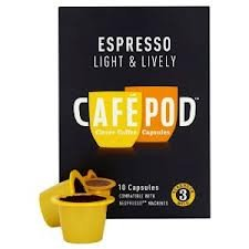 CafePod Nespresso Compatible Light Coffee Capsules 10 per pack (Pack of 3)