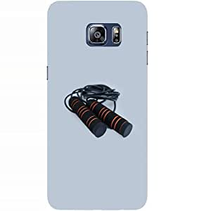 Casotec Skipping Rod Design Hard Back Case Cover for Samsung Galaxy S6 edge Plus