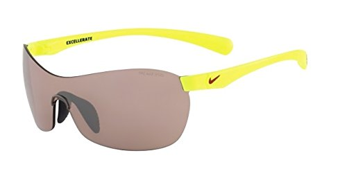 Nike Max Speed Tint Lens Excellerate E Sunglasses, Volt/Gym Red