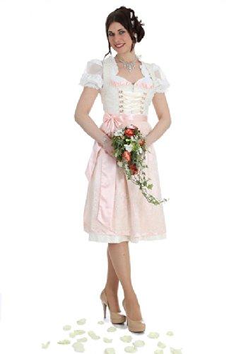 Krüger Damen Brautdirndl 17697 2 70cm mit Bluse 34401 Größe: 44 Farbe: ECRU