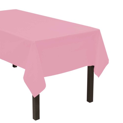"Party Essentials ValuMost Plastic Table Cover, 54 x 108"", Pink"