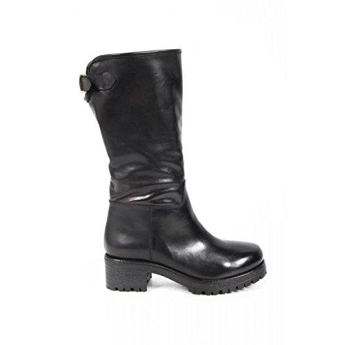 stivali alti donna versace 19.69 abbigliamento sportivo milano ladies boots b1567 silk nero -- 37 it - 7 us