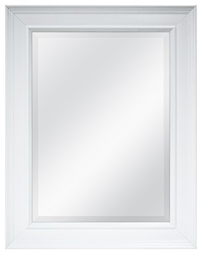 MCS 20450 15.5 by 21.5-Inch Beveled Mirror with 21.5 by 27.5-Inch Frame, White (Mirror Frame compare prices)