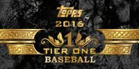2016 Topps Tier One Baseball Hobby Box (1 Pack/Box -3 Cards with 2 Autographs & 1 Relic) (Release Date: 5/18/16)