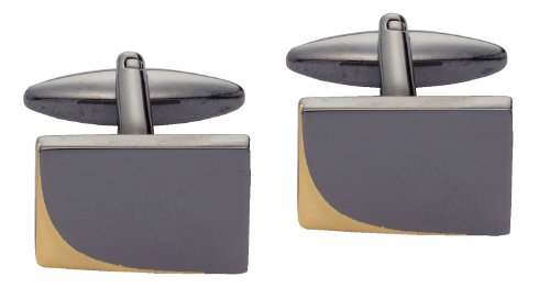 Code Red Black Plated Cufflinks with 'Gold' Edge