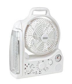 【USB充電対応】LEDライト/蚊取り/ラジオ/時計などが一体化した「スゴイ扇風機」