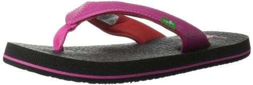 Sanuk Kids Yoga Mat Flip Flop (Toddler/Little Kid/Big Kid),Hot Pink/Red,10/11 M US Little Kid