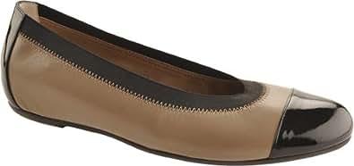 Bruno Magli Women's Bogolino,Khaki Kidskin/Black Patent Leather/Elastic,EU 36 M