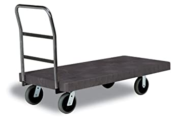 "Continental 5860, Single Handle Utility Duty Platform Truck, 700 lbs Capacity, 48"" Length x 24"" Width, Charcoal Grey (Case of 1)"
