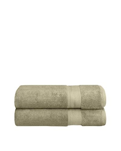 Home Source Set of 2 Suite Collection MicroCotton Bath Sheets, Sage