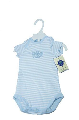 Irish Baby Body Suit-Blue & White Angel-100% Cotton-3-6 Months front-1027008