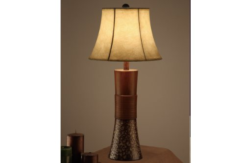 Poundex Set of 2 Table Lamps with Tan Bell Shade at Sears.com