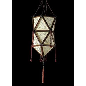 FORTUNY TWO-TIER SILK CHANDELIER : Lot 634