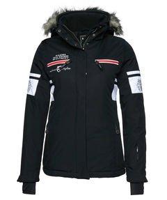Killtec Damen Soft Shell Jacke mit abzipbarer Kapuze Phaela, schwarz/weiss, 36, 22714-000