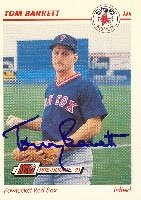 Tom Barrett Pawtucket Red Sox - Red Sox Affiliate 1991 Line Drive Pre Rookie... by Hall of Fame Memorabilia