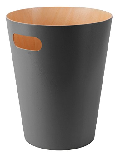 Umbra Woodrow Waste Can, Charcoal (Modern Garbage Can compare prices)