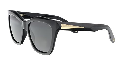 Givenchy 7008/S QOL Black 7008/S Square Sunglasses Lens Category 3 Size 53mm (Color: Black, Tamaño: 53mm)