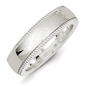 Genuine IceCarats Designer Jewelry Gift Ss 6Mm Milgrain Comfort Fit Band Size 7.00
