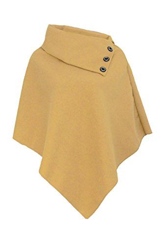 Fashion 4 Less - Poncho -  donna marrone chiaro Taglia unica
