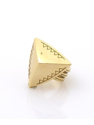 House of Harlow 1960 Jewelry Faceted Pyramid Cocktail Ring - Gold - 6