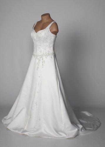 Ivory Duchess Satin Wedding Gown with Sweetheart Neckline